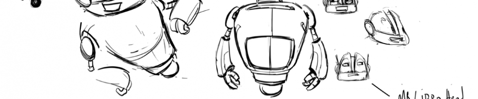 Spelling robot sketches