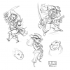"""Pirates"" designs for online game (Playstudios)"