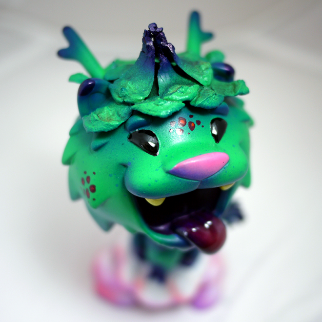 "Custom Vinyl for SDCC: ""Blacky the Dragon Dog"""